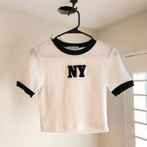 Zara NY shirt / crop